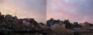 ガンジス河の夕焼け