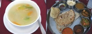 インドのレストランで昼食