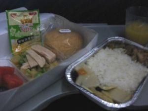中国南方航空の機内食