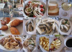 キプロスのレストランで昼食