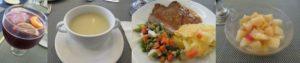 バレンシアのレストランで夕食