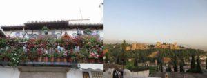遠くから眺めるアルハンブラ宮殿