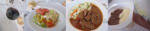 コルドバのレストランで昼食