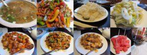 レストランで中華料理