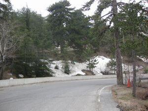 トロードスの残雪