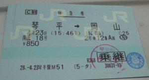 切符の検印がアンパンマン
