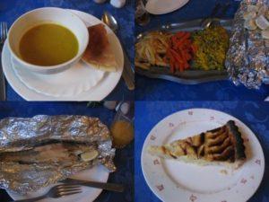 モロッコのレストランで昼食