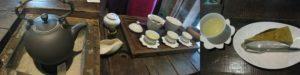 「九份茶坊」の台湾茶と烏龍茶のチーズケーキ