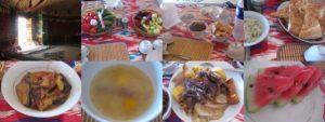 アヤズ・ユルタキャンプで昼食
