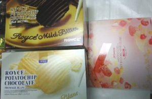 「ロイズ」のポテトチップチョコレート、フルーツバーチョコレート