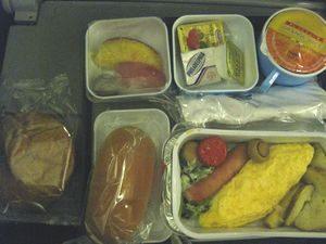 エジプト航空の機内食