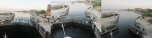 エスナの水門通過
