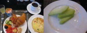 レストランで朝食