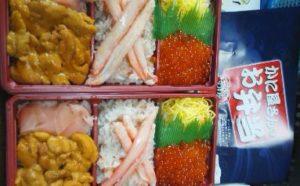 「カネシマ嶋田商店」の海鮮弁当