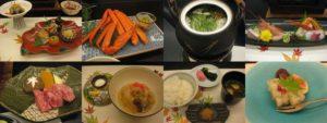 西村屋ホテル招月庭の夕食